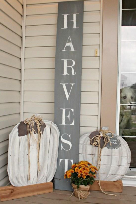 DIY, Fall, Home Decor, Pumpkins, Pallet, Porch, Fall