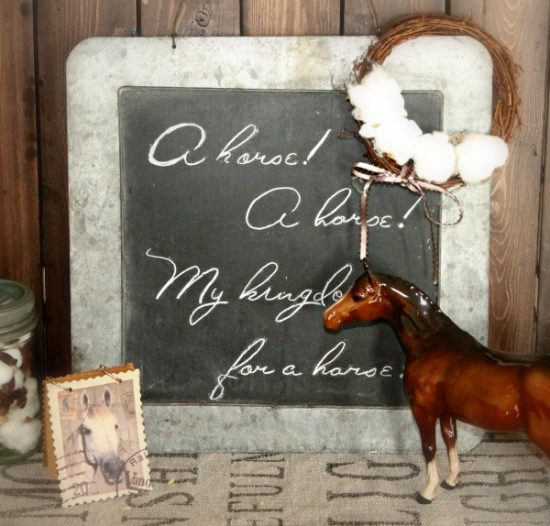 DIY, Chalboard, Farmhouse, Home Decor, Pottery, Horse