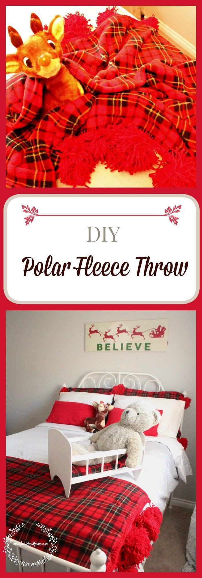 A festive and warm diy fleece throw