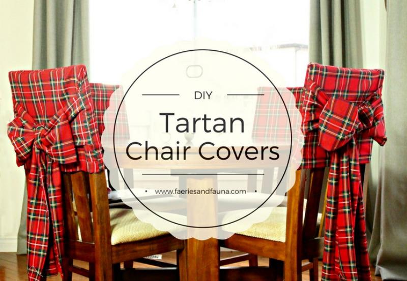 Diy Christmas Tartan Chair Covers Of Faeries Amp Fauna