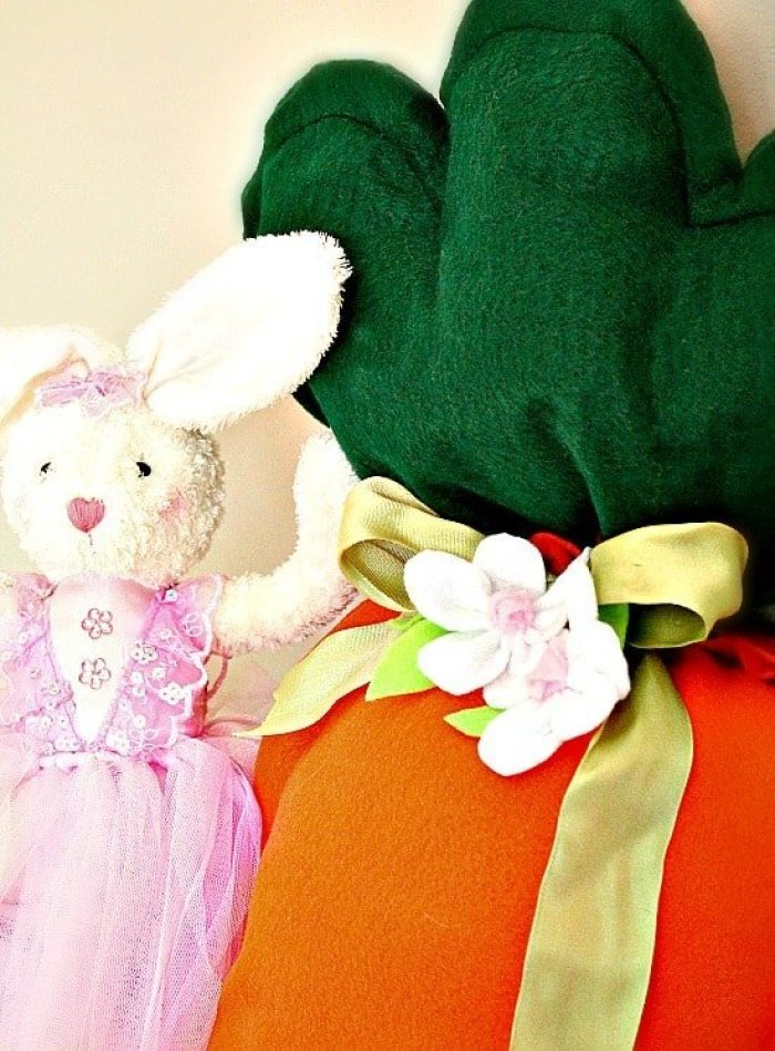 DIY, Crafts, Children's Decor, Easter Crafts, Giant Pumpkin Cushion