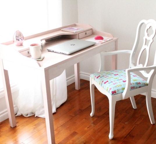 Ikea Hack, Desk Makeover, Girlish Desk, Pink Desk, DIY Home Decor, Painted Furniture