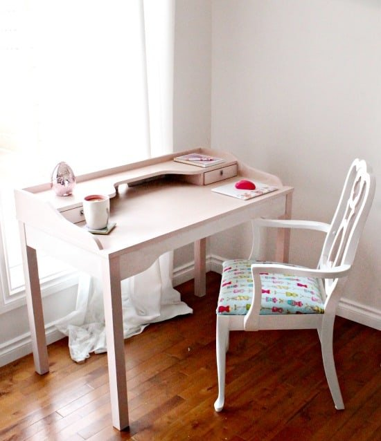 Ikea Hack, Desk Makeover, Girlish Desk, Pink Desk, DIY Home Decor, Painted Furniture