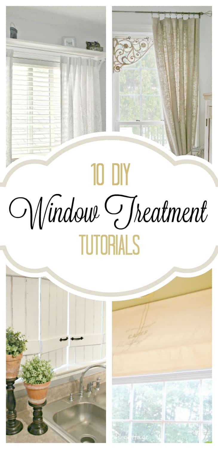 DIY window treatments, push rods,window treatment ideas,curtain ideas,, Inexpensive Window Treatments, Feminine window treatments, shower rod