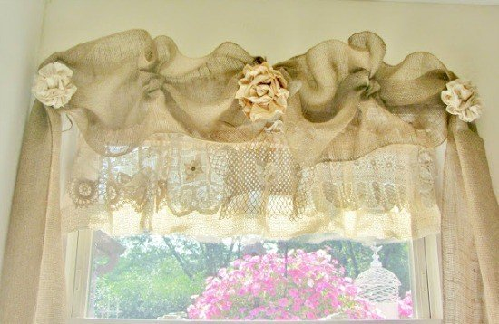 DIY window treatments, window treatment ideas,curtain ideas,, tutorial, Inexpensive Window Treatments, Feminine window treatments, shower rod