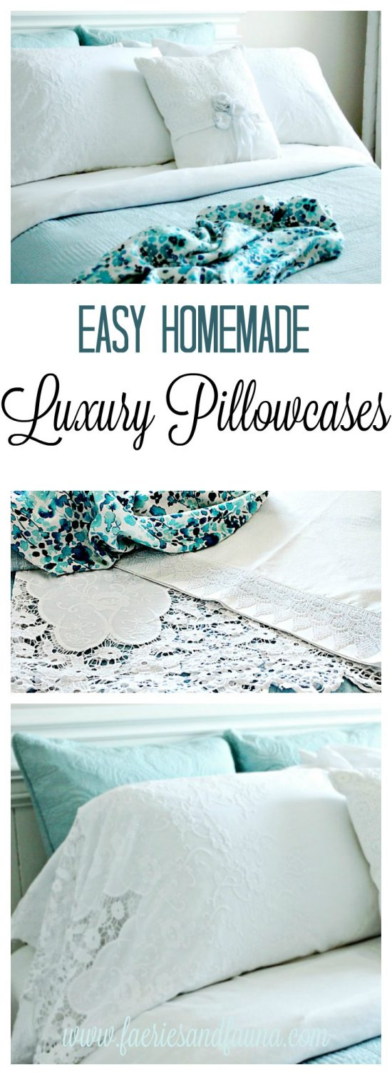 Pillowcase pattern, making pillow cases, homemade pillow cases, luxury DIY pillowcases