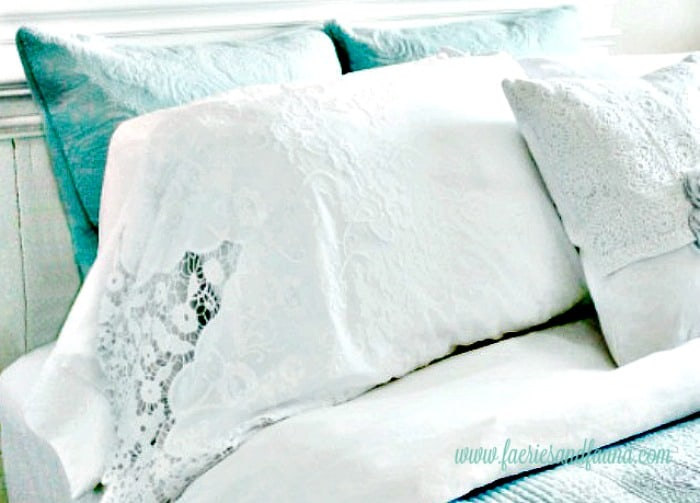 Handmade high quality, elegant pillowcases with cutout lace. Homemade pillowcases,sewing pillowcases, easy pillowcase pattern, pillowcase sewing patter, pillowcase ideas, diy pillowcase, lacy pillowcase, luxury pillowcase