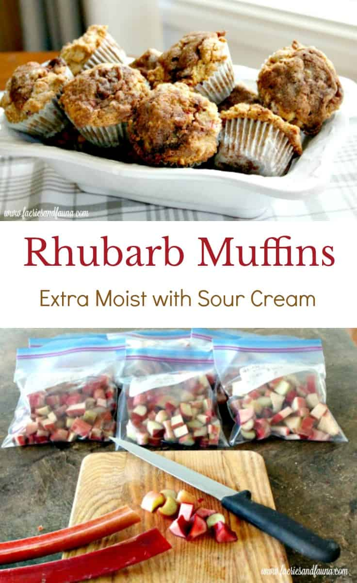 Rhubarb Muffin Recipe with Sour Cream