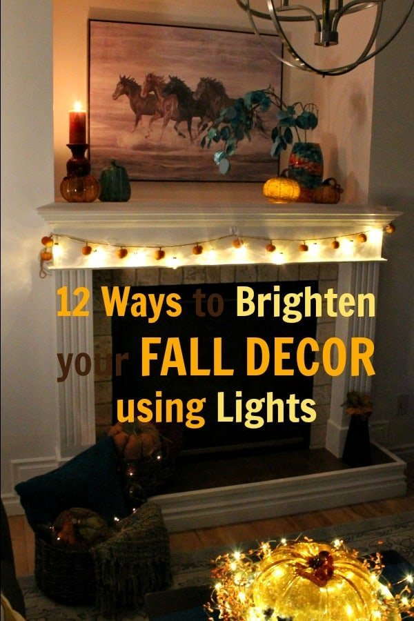 Brighten Fall Decor with Lights