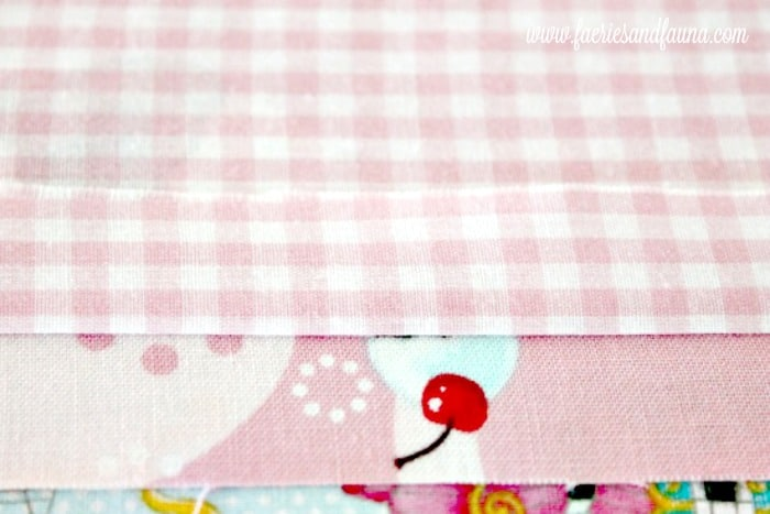 Three coordinating fabrics for a diy basket liner. How to make basket liners, basket liner pattern, easy sewing , sew easy, diy sewing projects