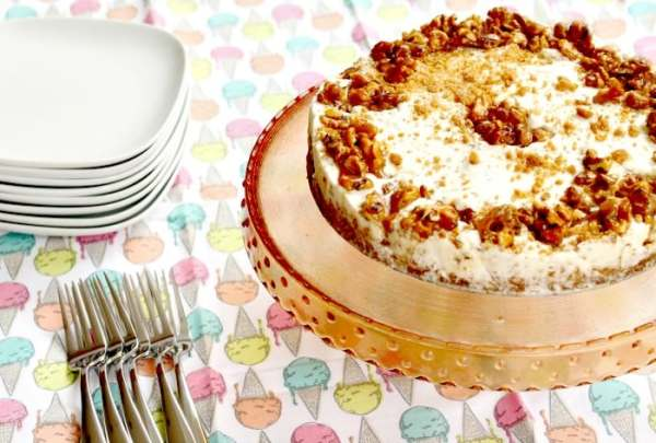 Candied Maple Walnut Ice Cream Cake Recipe