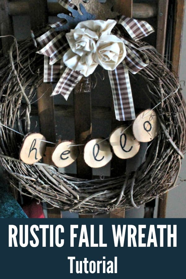 Rustic fall wreath tutorial for outdoor decor.