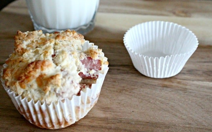 Ham and Cheese Muffins, Freeze ahead lunches, savory muffin recipes for back to school.