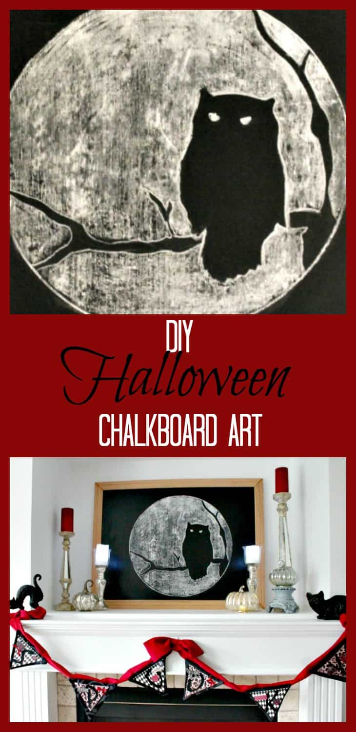 Halloween Chalkboard Art, DIY Halloween Decorations, Halloween Decor, DIY Halloween Decor