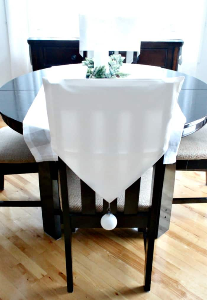 Diy Chair Backs, How To Make Chair Back Covers, Diy Chair Covers, Christmas