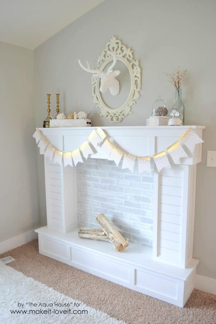 Diy Faux Fireplace Ideas In Time For Christmas. Paint Kitchen Floor. Cement Kitchen Floor. Brown Granite Kitchen Countertops. Kitchen Sink Countertops. Backsplash Patterns For The Kitchen. Best Paint Colors For Kitchen Walls. Best Backsplash For Small Kitchen. Glazed Kitchen Cabinets Colors