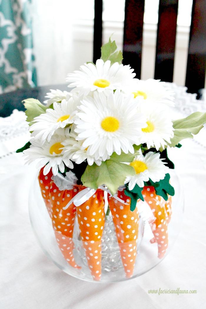 Easter Decorating Ideas Using Mini Carrots