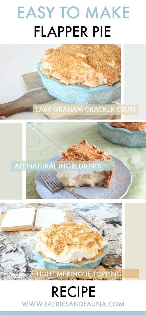 A collage showing three different pictures of a golden and delicious flapper pie. flapper pie, flapper pie recipe, vintage pie recipe, vintage recipes,