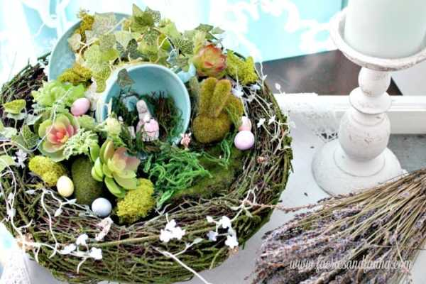 DIY Fairy Garden for Easter with a Teacup Patio
