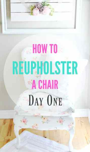 Day One of How to Reupholster a Chair Removing the Fabric and Taking Notes Chair repair, furniture restoration, recover chairs DIY, how to reupholster a chair, reupholstery, chair reupholstery, furniture repair, recovering furniture, how to recover a chair.