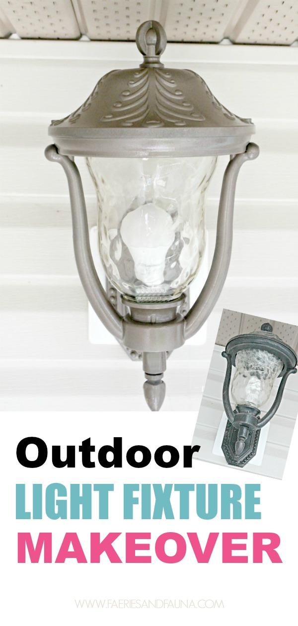 painting light fixtures. DIY Porch Light Makeover. Spray Painting Fixtures Paint Metal Lamp,