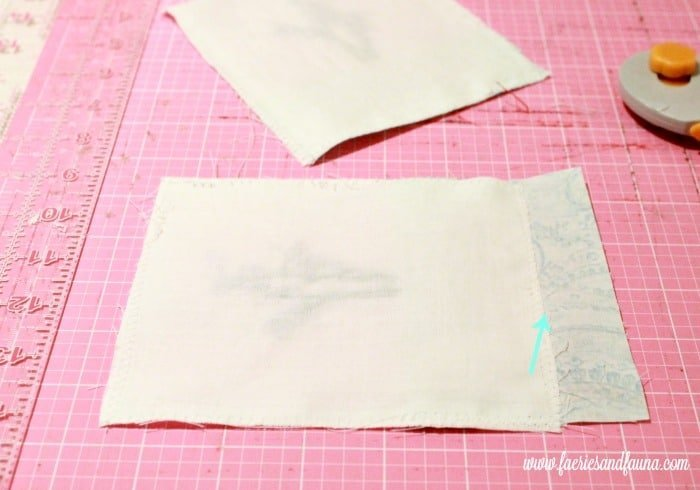 Trimming off excess fabric on the lavender sachet. sachet, how to make lavender bags, how to make sachets, lavender bags pattern, hand embroidery, hand embroidery patterns, hand embroidery stitches, hand embroidery designs.