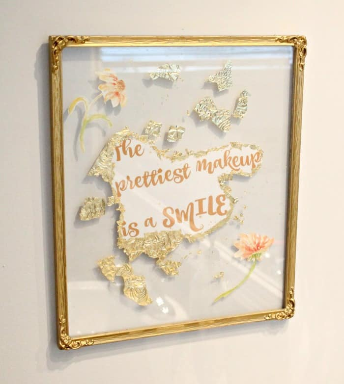 A large DIY floating frame in gold.Old frames in need of cleaning, with dull gold patina. DIY floating frame, floating frame, frame ideas, floating picture frame diy, diy picture frame
