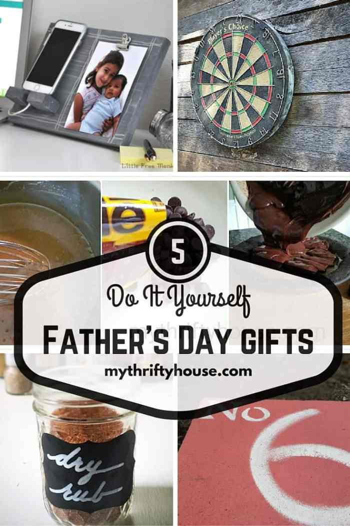 Five DIY Gifts for Fathers day as part of the Waste Not Wednesday Link party