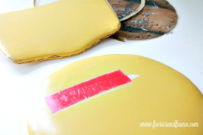 The damaged portion of a vintage stool. How to fix a vintage stool, repairing a vintage stool, upcycled furniture, furniture for cheap, craft room makeover projects