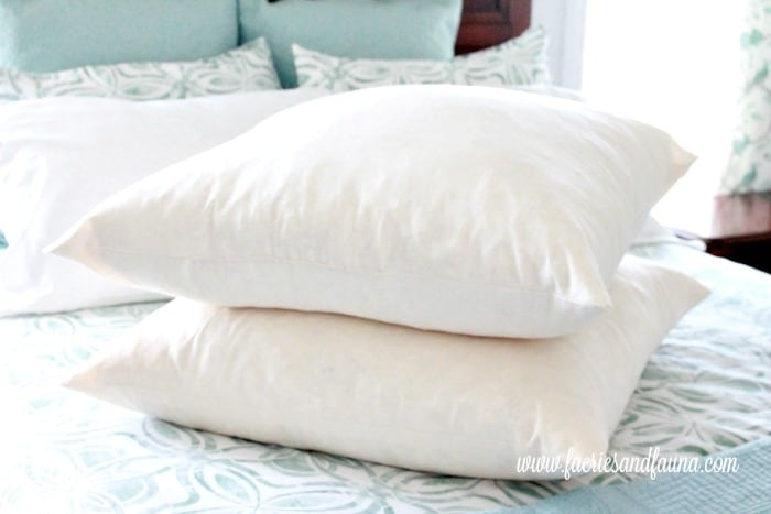 Two DIY cushion inserts. Two handmade luxurious feather filled european cushion inserts