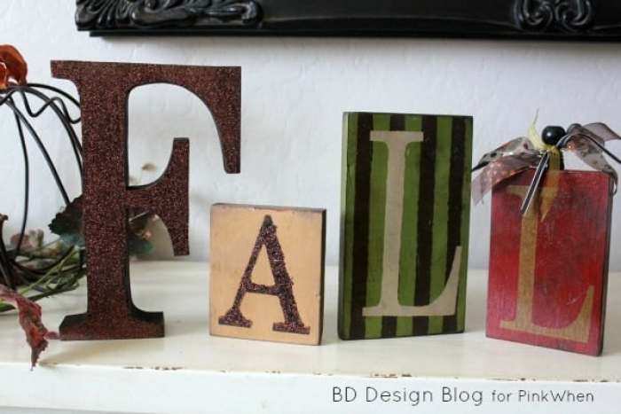 DIY Fall Block craft project, for fall decorating.