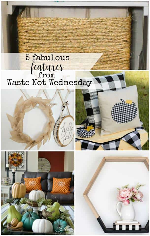 Fall decor idea featuresfrom Waste Not Wednesday