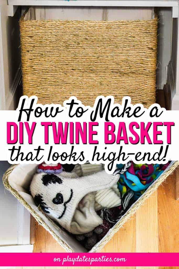 Waste not Wednesday Feature - Twine covered Box