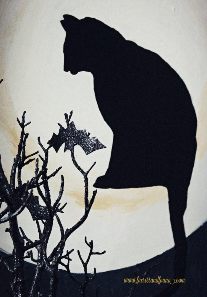 Black cat Halloween Countdown, a DIY Halloween Decoration