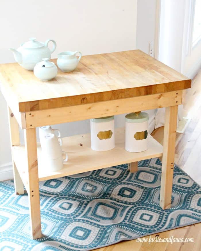 How to build a DIY coffee cart for cheap. A handmade coffee cart or coffee station that is still unfinished.