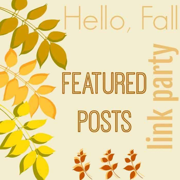 Hello Fall Link Party featured post graphic.
