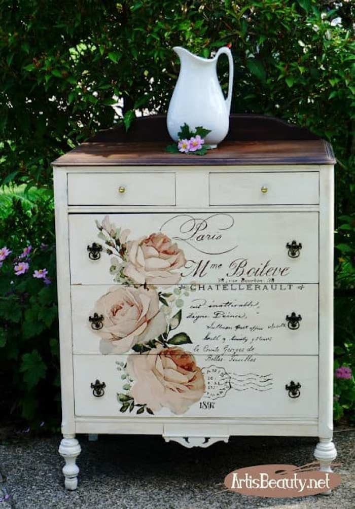 Waste Not Wednesday feature - refinished dresser