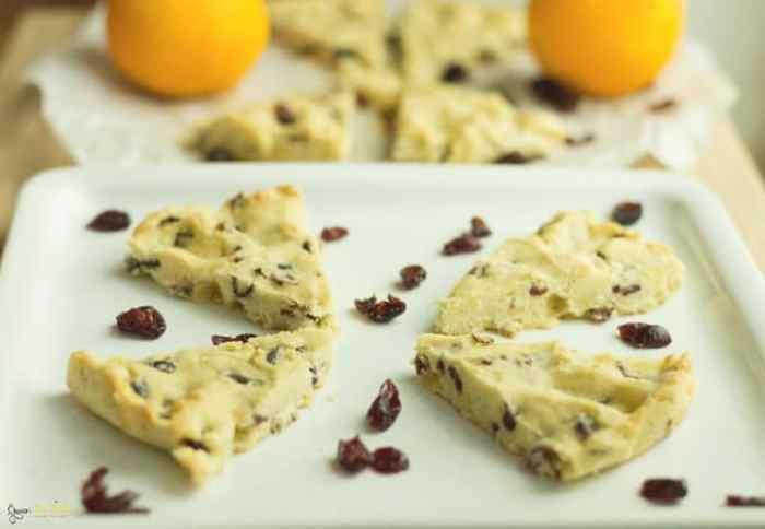 Orange Cranberry Shortbread Recipe