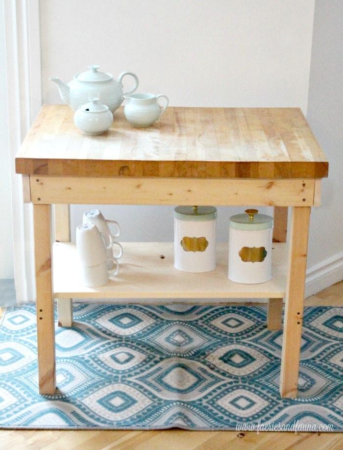 Homemade DIY Coffee cart or Coffee bar using wood.