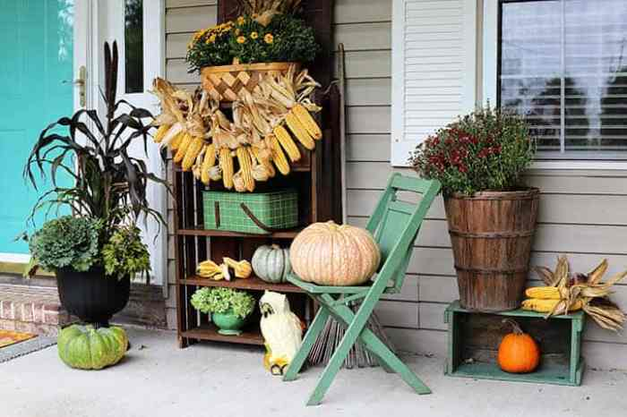 Waste Not Wednesday - Fall porch decorating