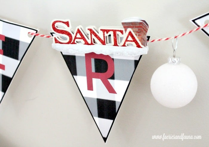 Christmas crafts for Kids Easy Paper Banner