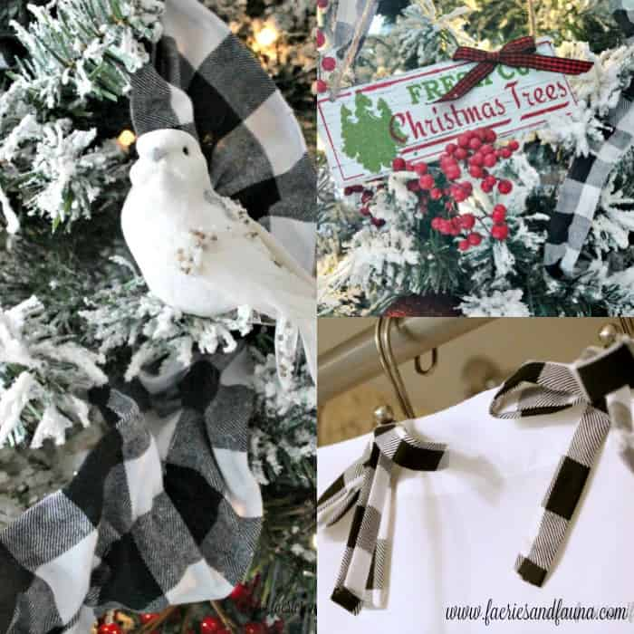 Three different styles of DIY Ribbon for Christmas