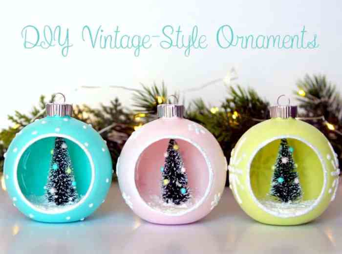 Waste Not Wednesday Feature DIY Vintage Christmas Ornaments
