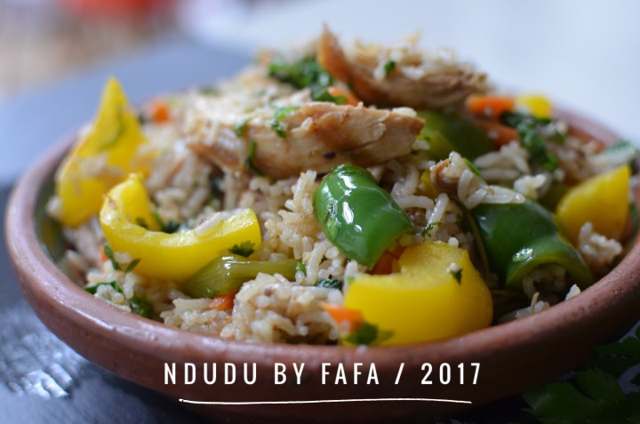GHANAIAN COCONUT & GUINEA FOWL FRIED RICE