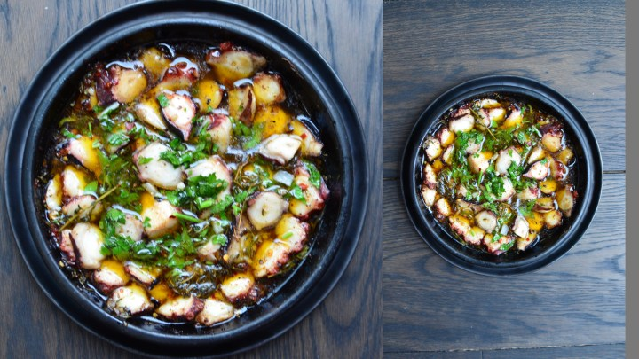 CLAY GRILLED, HERBY and SPICY OCTOPUS