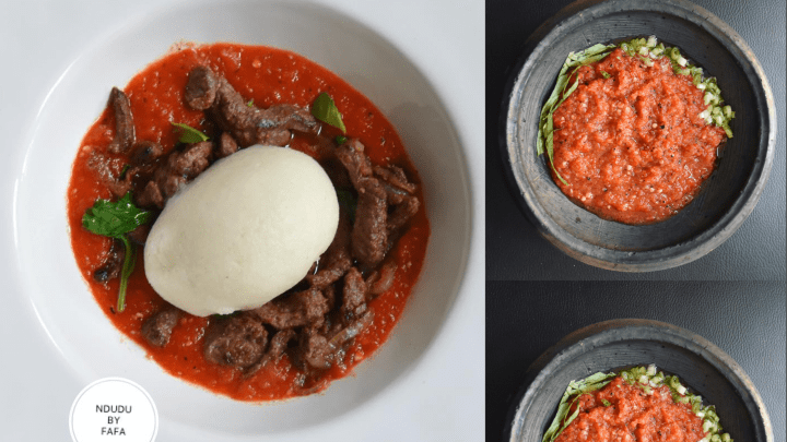 GHANAIAN SMOKY & SPICY SALSA WITH SCENTED BEEF STRIPS