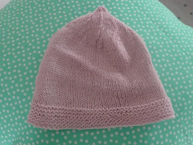 Bonnet naissance tricoté