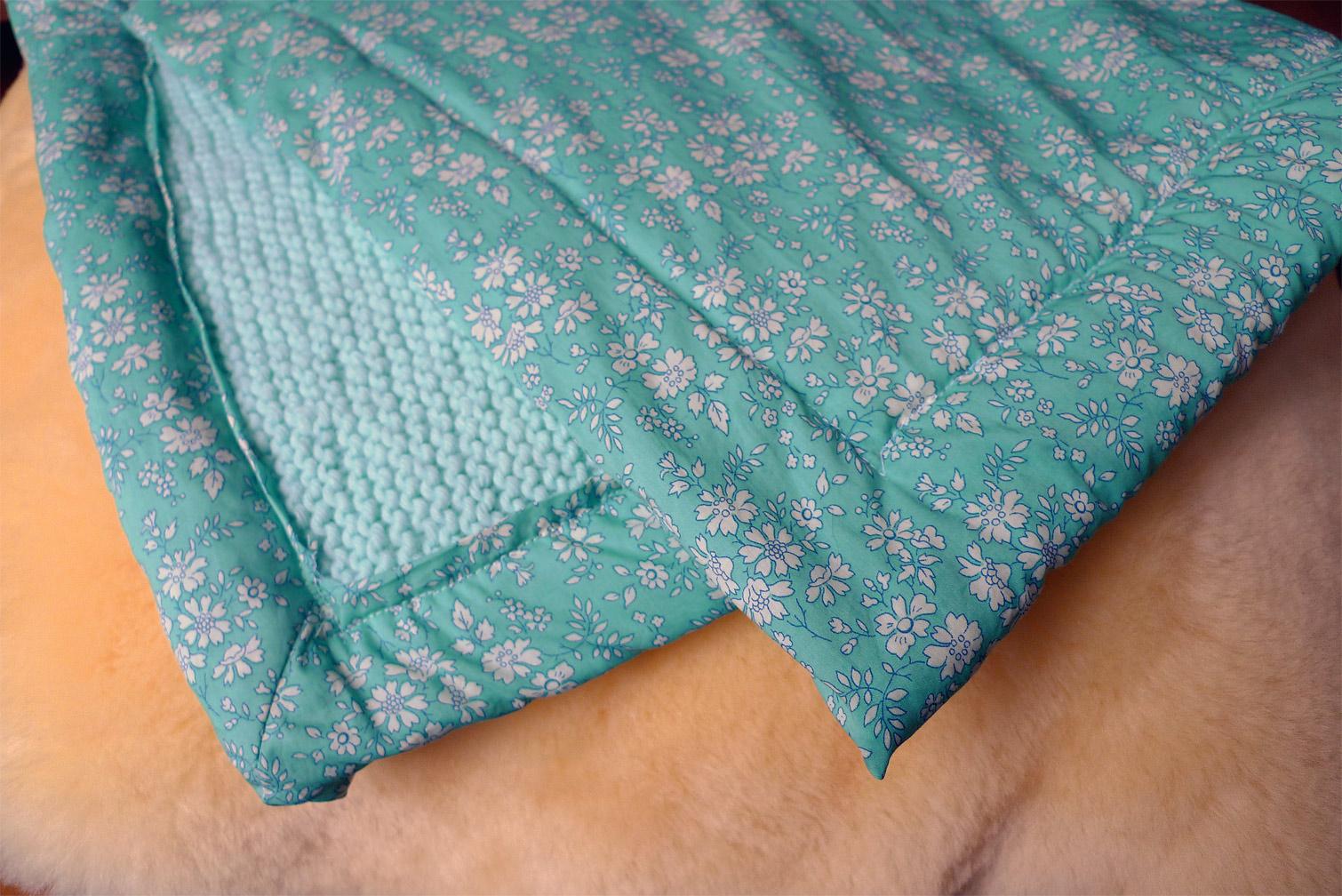 Tuto tricoter et doubler un plaid pour b b fafaille - Tricoter un plaid facile ...
