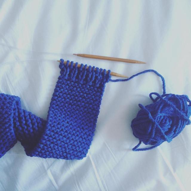 Tricoter écharpe bébé bords côtes