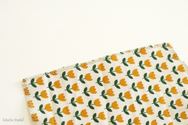 Tissu tulipes jaune